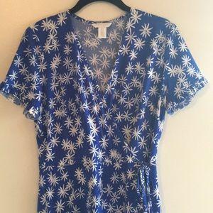 London times faux wrap dress, size 8P